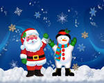 Wallpapers Backgrounds - Santa Claus Wallpapers (wallpapers Santa claus Christmas snowman blogspot 1280x1024)