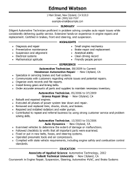 Maintenance Technician Resume Sample by Best Automotive Technician Resume Example Livecareer