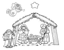 stunning printable christmas coloring pages nativity with nativity