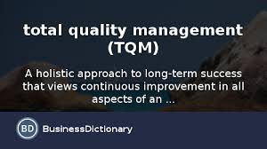 Use      total quality management  TQM       in a Sentence