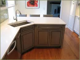 recycled countertops corner kitchen sink base cabinet lighting