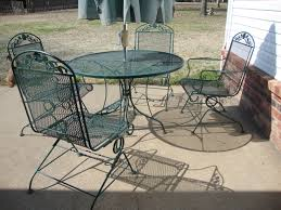 Cast Iron Patio Set Table Chairs Garden Furniture - furniture wrought iron patio set with green grass design and grey