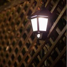 Solar Fence Lighting by 2017 Solar Motion Detector Garden Lights Led Wall Sconce
