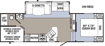 Fifth Wheel Bunkhouse Floor Plans Rvs Cheyenne Camping Center