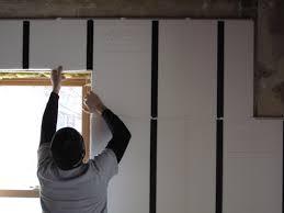 interior rehab with insofast over masonry walls insofast