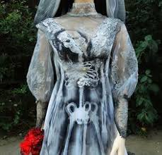 Wedding Dress Halloween Costume Victorian Ghost Bride Halloween Costume Wedding Dress Vintage Gown
