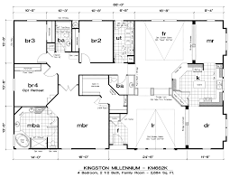 chic and creative 6 bedroom manufactured home floor plans 5 85