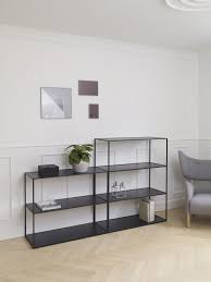 Modern Contemporary Bookshelves by Contemporary Shelf Laminate Lacquered Steel Twin By Lassen
