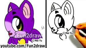 how to draw a cartoon bat how to draw animals halloween