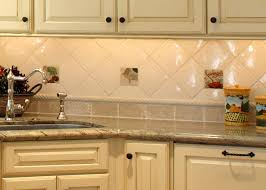 Cream Subway Tile Backsplash by Accessories Astounding Cream Wooden Cabinet With Brown Marble