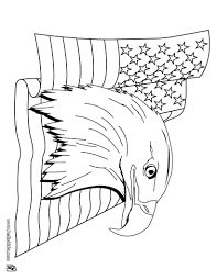 bald eagle and us flag coloring pages hellokids com
