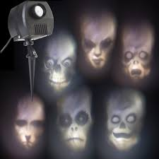 animated ghostly face projector halloween yard prop crafts from