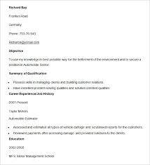 Automobile Resume Template         Free Word  PDF Documents Download     Template net This automobile estimator resume template example would guide you and save your valuable time with its pre structured resume framework covering all the