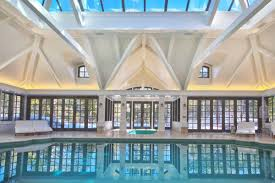 In Door Pool by Elegant Private Indoor Glass Mosaic Swimming Pool With Atrium
