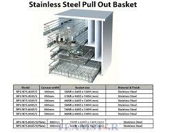Kitchen Basket Chrome  Stainless Steel Furniture Hardware - Kitchen cabinet accesories