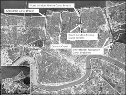 Ninth Ward New Orleans Map by New Orleans Levee System Performance During Hurricane Katrina