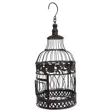 oiseaux en metal grande cage à oiseaux ronde à poser ou volière décorative à