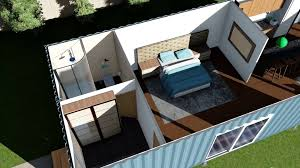 shipping container home floor plans render animation youtube