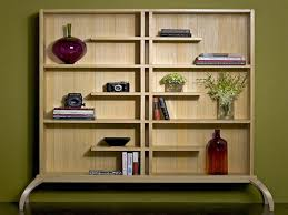 Free Wooden Bookcase Plans by Decoration Ideas Charming Free Standing White Wooden Asymmetrical