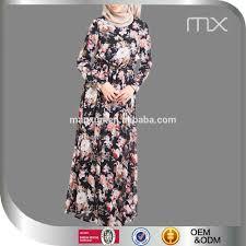floral chiffon maxi dresses colorful designer burqa long sleeve