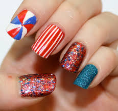 evlady fourth of july nail art