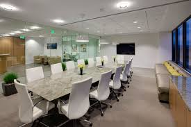 modern conference room table white leather swivel chairs with silver steel legs combined with
