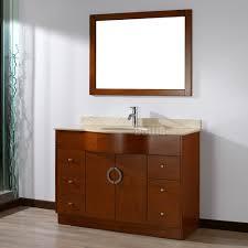 zoe 48 inch modern cherry bathroom vanity set gala beige top