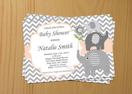 Invitation Cards For Baby Shower Templates Baby Shower Invitations Elephant Theruntime Com