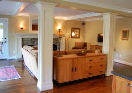 formidable marble varnished interior columns with curved top trims