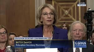 education secretary nominee betsy devos testifies confirmation
