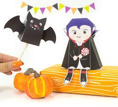 Printable Halloween Bags Diy Lil Dracula Halloween Treat Box And Bat Lollipop Cover