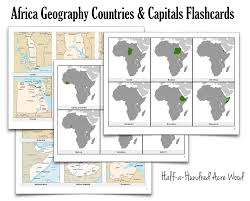 South America Map And Capitals by Africa Countries Capitals Flashcards Half A Hundred Acre Wood