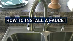 Replace Kitchen Sink Faucet by How To Replace A Kitchen Faucet Youtube