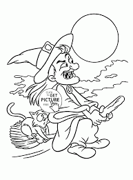 angry witch and cat coloring pages for kids halloween printables