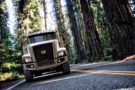 680 volvo truck trucking in the forest catmachines ct680 caterpillar cat and