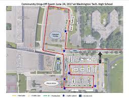 Washington Traffic Map by Citywide Drop Off Events Saint Paul Minnesota