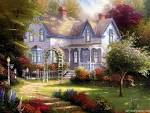 Wallpapers Backgrounds - Thomas Kinkade Wallpapers Art Paintings Prints