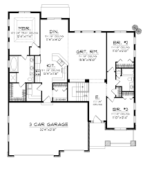 House Plans With 3 Car Garage by Cadford Traditional Ranch Home Plan 051d 0678 House Plans And More
