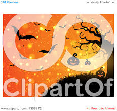 free halloween background images clipart of a halloween background of illuminated silhouetted