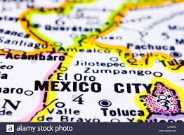 Map Of Juarez Mexico by A Close Up Of Mexico City On Map Capital Of Mexico Stock Photo