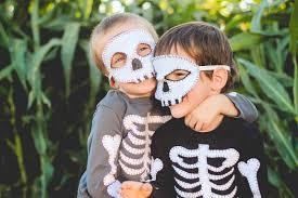 Kids Skeleton Halloween Costume by Finley And Oliver Diy Skeleton Costume