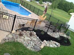 landscaping around pool we could just fence the pool so we don u0027t