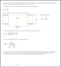 homework and exercises   How to derive the Time Dilation formula     Physics Stack Exchange enter image description here
