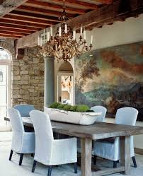 rustic ceiling ideas dining room rustic with stone wall gold