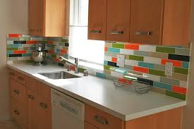 Ceramic Tile Backsplash Modern Small Kitchen Design With White - Ceramic tile backsplash
