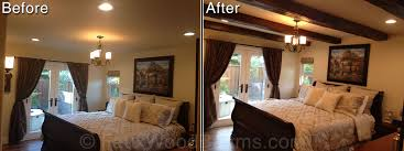Exposed Beam Ceiling Living Room by Bedrooms With Open Beam Ceilings Faux Wood Workshop