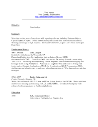 Hris Analyst Resume Data Warehouse Analyst Job Description