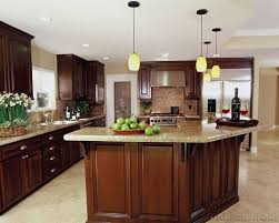 Best Cherry Color Kitchens Images On Pinterest Cherry Kitchen - Kitchen backsplash ideas dark cherry cabinets