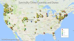 United States Map Major Cities by Maps Sanctuary Cities Counties And States Center For