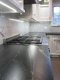 Kitchen Marble Backsplash Kitchen With Marble Backsplash And Soapstone Countertops